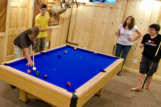 Game room and pool table